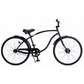 自転車 RAINBOW TYPE-X 26CRUISER EDGE MatteBlack×WhiteRim BMXハンドル レインボー ビーチクルーザー 26インチ おしゃれ 通勤 通学 メンズ レディース