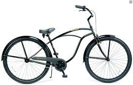 ビーチクルーザー 29インチ おしゃれ 自転車 通勤 通学 レインボービーチクルーザー 29er グロスブラック メンズ レディース
