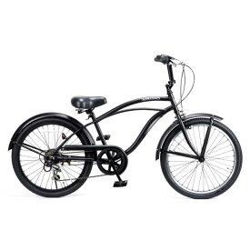 子供用自転車 22インチ ビーチクルーザー 6段変速 おしゃれ 自転車 ジュニア 小学生 レインボー Feelling of decks FOD-22-6D