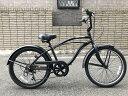 【ジュニア用ビーチクルーザー】6段変速《FEELING OF DECKS 22inch-6D》子供用自転車 22インチ 変速付