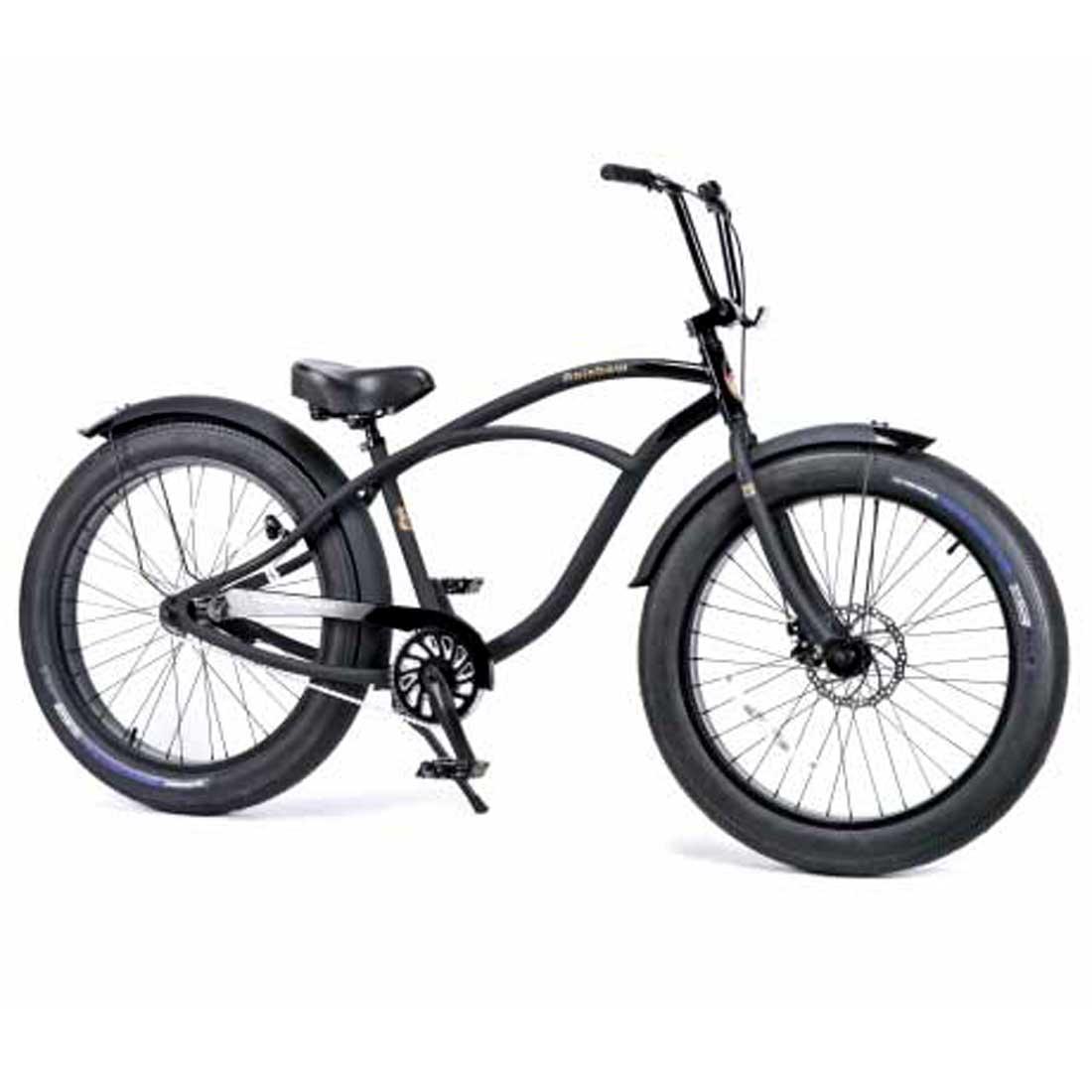 ビーチクルーザー 26インチ ファットバイク アルミフレーム 自転車 通勤 通学 レインボービーチクルーザー GREASE-3.5-1sp ダースベーダー メンズ レディース