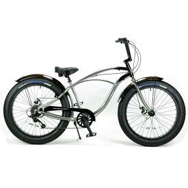レインボー ビーチクルーザー ファットバイク 26インチ 8段変速付 おしゃれ 自転車 通勤 通学 メンズ レディースGREASE-3.5 クロームポリッシュ