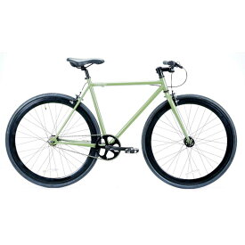 レインボー T-STREET ピスト クロスバイク ロードバイク 自転車 おしゃれ 通勤 通学 メンズ レディース T-STREET 700C アーミーグリーン