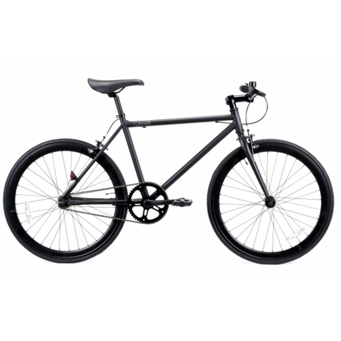 ピストバイク 24インチ ロードバイク シングルスピード おしゃれ 自転車 通勤 通学 レインボー T-STREET-24T マットブラック メンズ レディース