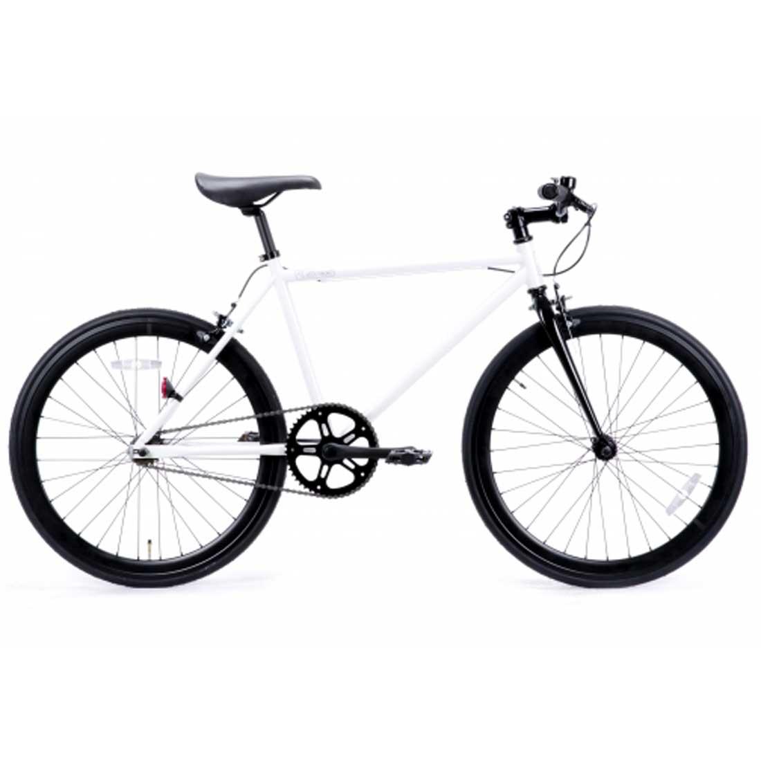 ピストバイク 24インチ ロードバイク シングルスピード おしゃれ 自転車 通勤 通学 レインボー T-STREET-24T グロスホワイト メンズ レディース