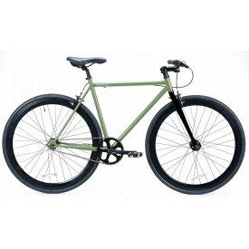 自転車 T-STREET 700C-1SP STREET-WISE-RADICALS アーミーグリーン ピスト クロスバイク ロードバイク おしゃれ 通勤 通学 メンズ レディース