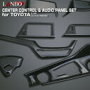 LANBO センターコントロール&オーディオパネルセット トヨタ C-HR ZYX10/NGX50 インテリア ドレスアップ 簡単取付