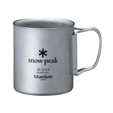 SNOW PEAK【チタンダブルマグ220mlフォールディングハンドル】スノーピーク