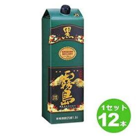 いも焼酎 黒霧島 1800ml パック (6本入)×2ケース 25度 メーカー宮崎県:霧島酒造(株)