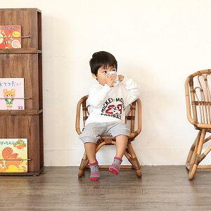 【WEB限定】ラタンチェア皮付きラタンアジアンラタンキッズチェア子供椅子子供いす籐家具アジアンリゾートカフェおしゃれアンティーク調木製椅子籐椅子C155MME