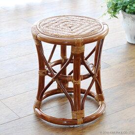 【SALE】スツール 椅子 チェア 籐 ラタン 木製 おしゃれ コンパクト クッション 和風 アジアン ナチュラル 浴室 玄関 C405HR CT17
