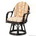 【あす楽】回転イス エクストラハイタイプ 回転椅子 籐椅子 回転チェア ラタン チェア アジアン 1人用 椅子 イス 籐製 和風 雑貨 日本 ジャパニーズ モダン 背クッション付き C723CBJS CT17