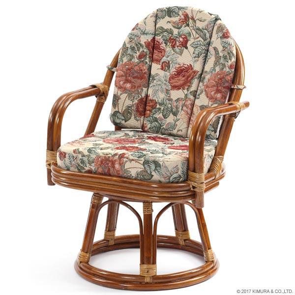 【あす楽】回転椅子 C713HRBS 背クッション付き エクストラハイタイプ 回転チェア 回転座椅子 楽座椅子 籐 ラタン 格安 和 座椅子 アジアン 【楽ギフ_のし宛書】【楽ギフ_メッセ】 CT15