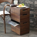 【あす楽】アジアン家具 チーク無垢 スタッキングボックス3段 サイドテーブル 小物入れ サイドワゴン 木製 無垢 フタ…
