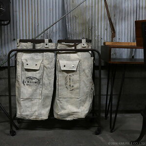インダストリアル家具ランドリートロリーバッグ収納ランドリーワゴンスチールアイアン鉄ビンテージヴィンテージアンティーク塩系おしゃれカフェ北欧アジアンKLUB14REK702BK