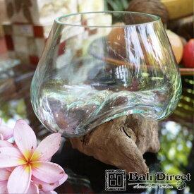 アジアン雑貨 バリガラス ボウル 流木 アクアテラリウム アジアン 雑貨 バリ インテリア1個 Z050701E Bali Direct