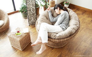 アジアン家具パパサンチェア1PソファーウォーターヒヤシンスC289ATZアバカバリ家具パラボラチェア2015年新商品