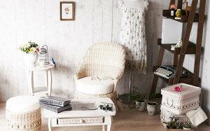 ソファfiore姫系家具C811WW1人掛けソファー椅子姫系ロマンティックカントリーナチュラルラブリー&ガーリーゴスロリゴシックロリータホワイトウォッシュラタンCT17