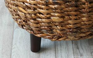 アジアン家具スツール椅子いすイスチェア腰掛けバナナリーフ天然木籐ラタンアバカバリ風籐椅子1人用エスニックモダンインドネシア直輸入ナチュラルリゾートハワイアンおしゃれ西海岸CT17C205ATY