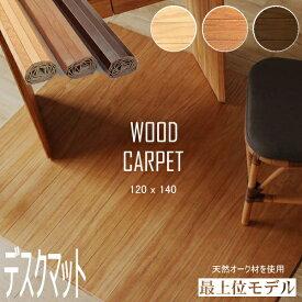 ウッドカーペット デスクカーペット デスクマット 120×140cm フローリングカーペット アジアン家具 アジアン雑貨 子供部屋 フロアラグ 0W1001
