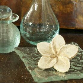 【 再入荷商品! 】 木製 オブジェ プルメリア (A) バリのアジアン雑貨 フランジパニ 造花