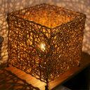 アジアン雑貨ラタンのスクエアライト【ランダム】籐細工の幻想的なアジアンランプ