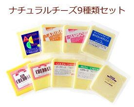 ナチュラルチーズ 9種類セット 各200gゴーダ モッツァレラ サムソー マリボー レッドチェダー チェダー エダム オーストラリア ニュージーランド オランダ ドイツm9_SS3