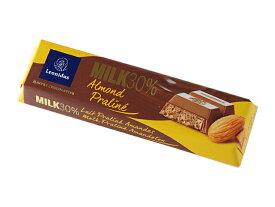 レオニダス 30%ミルク アーモンドプラリネ 50gチョコレートバー| Leonidas CHO