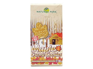 ナチュラルパーク メープルクリームクッキー6P 95g賞味期限2020年4月11日の商品※夏季クール便発送 SC