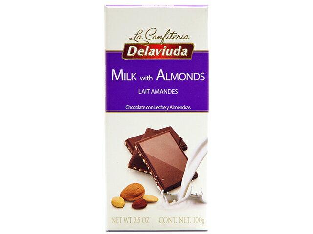 デラビューダ アーモンドチョコレート 100g |板チョコレート|