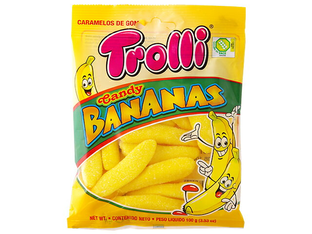 トローリ キャンディバナナ 100gグミ カラフルグミ