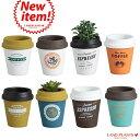 【8カラー】 コーヒーカップ型 陶器鉢 Mサイズ チルドカップ3号・4号・植木鉢・底穴あり・フラワーポット 白・黒…