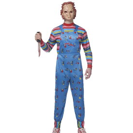 チャイルドプレイ チャッキー 大人用 コスプレ コスチューム 人形 マスク 衣装 プラスサイズ Child's Play