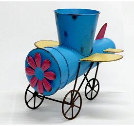 【ポイントUP+最大2000円OFFクーポン】スチールガーデンオブジェシリーズ 飛行機 小【送料無料 置物 置き物 オーナメント ブリキ風 ガーデンオーナメント 人形】