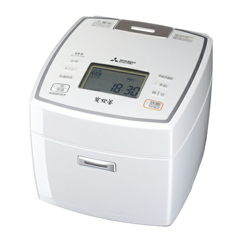 【送料無料】[Mitsubishi/三菱電機] IHジャー炊飯器 5.5合炊き NJ-VV109-W 5.5合 ピュアホワイト 備長炭 炭炊釜