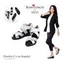 新作 スリムコーチ ダブルクロスサンダル 正規品  slimcoach Double Cross Sandal EICO式トレーニング 美脚 ダイエットサンダルダ…