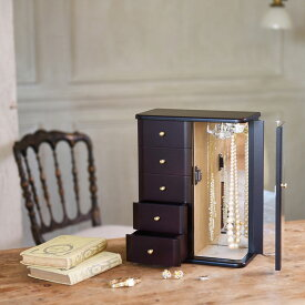 クーポン発行中 ジュエリーボックス 大容量 木製 ジュエルケース 日本製 木製ジュエルケース 縦型
