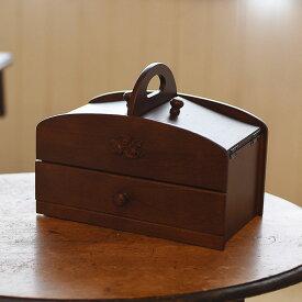 クーポン発行中 ソーイングボックス 日本製ソーイングボックス 大容量 木製 母の日 入学式 お裁縫 裁縫箱 プレゼント ギフト 誕生日 20-300 mij5