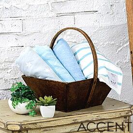 接触冷感ブランケット HAPPY COOL SUMMER(ハッピー クール サマー) ACCENT(アクセント) T27911 70cmx100cm ブルー/グレー 星柄/ボーダー柄
