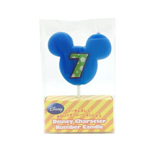 7番 ディズニー ナンバー キャンドル 誕生日 ろうそく ミッキー ミニー バースデーキャンドル 数字 ナンバーキャンドル カメヤマキャンドルハウス