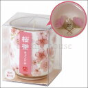 桜茶キャンドル(小) 桜の香り【故人の好物シリーズ】カメヤマローソク 本物そっくり お供え ご仏壇 お墓 インテリア キャンドルコレクションにも♪