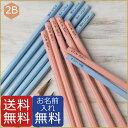 名入れ無料 鉛筆 パステルカラー えんぴつ 2B ブルー ピンク 無地 ムジ むじ 男の子でも女の子でも使えるシンプルな名…