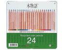 トンボ鉛筆 木物語 缶入色鉛筆 24色