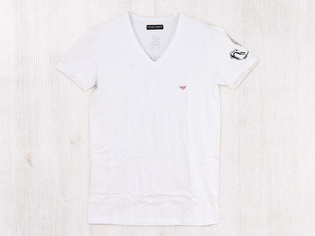 EMPORIO ARMANI エンポリオアルマーニ アンダーウェア 111262 3P529 00010 メンズ 男性 ホワイト 漢字ロゴ 蛇 半袖Tシャツ【送料無料 並行輸入品】