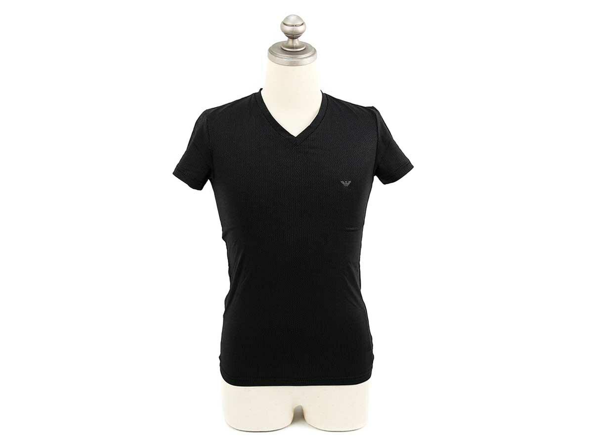 EMPORIO ARMANI エンポリオアルマーニ アンダーウェア シャツ 110810 4A551 0020 メンズ 男性 半袖Tシャツ BLACK ブラック【送料無料 並行輸入品】