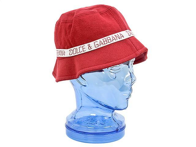 DOLCE&GABBANA ドルチェ&ガッバーナ ハット 帽子 G1H03K F10L1 S8355 レッド×ホワイト [ ドルチェ&ガッバーナ   送料無料 ]
