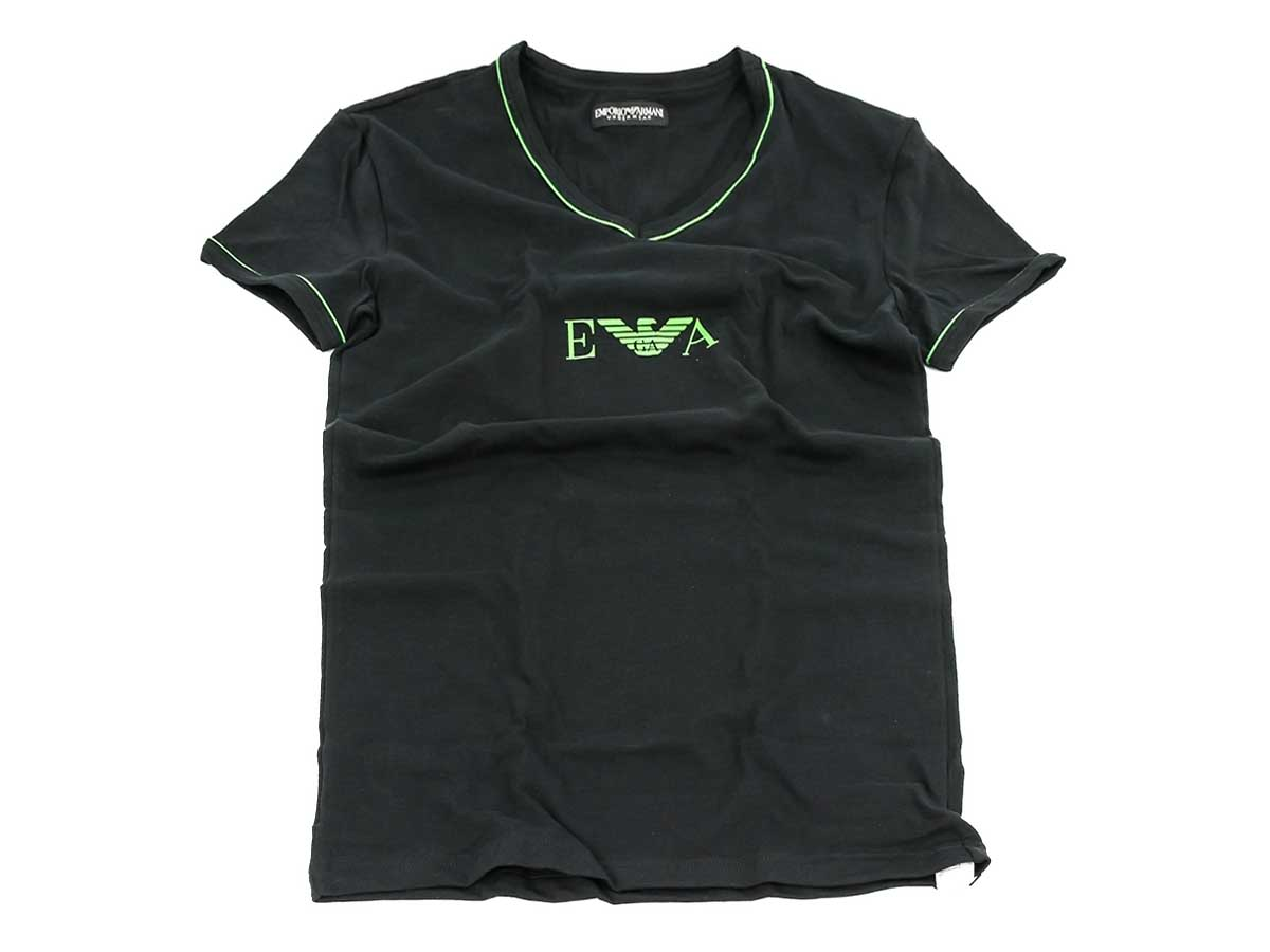 EMPORIO ARMANI エンポリオアルマーニ アンダーウェア 110810 2A715 00020 BLACK メンズ 男性 半袖Tシャツ ブラック【送料無料 並行輸入品】
