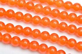 【連売り】ジェード オレンジ 6mm 1連(約38cm)天然石 パワーストーン ビーズ パーツ _R2181-6