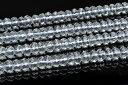 【連売り】水晶ボタンカット 3x6mm 1連(38cm)_R5519-6 5000円以上送料無料