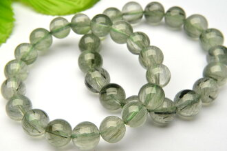 More than AA green rutile quartz 10mm bracelet _BG154-10 5,000 yen